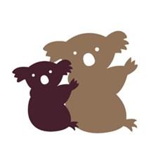 Applikation Tyg Koala Med Baby Stor 9,2x8 cm