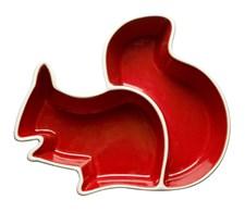 Serveringsskål, Ekorn, Rød/Hvit, Sagaform