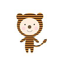 Aplikaatio, Tiikeri, pieni noin 5/ 7 cm