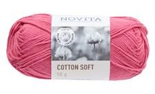 Novita Cotton Soft Bomullsgarn 50 g rose 520