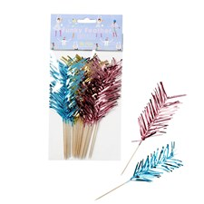 Rice Partypinnar 12-pack Rosa/Mint/Guld