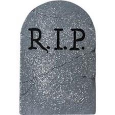 Gravsten RIP Dekoration Halloween