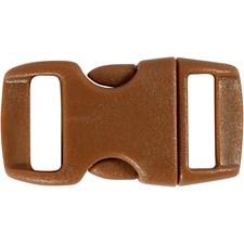 Klikklås, B: 15 mm, L: 29 mm, brun, 4stk., hullstr. 3x11 mm