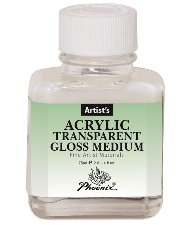 Akryl Transparent Glansig Målarmedium 75ml