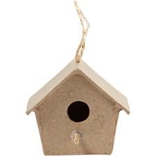 Mini fuglehus, H: 5 cm, 4 stk.