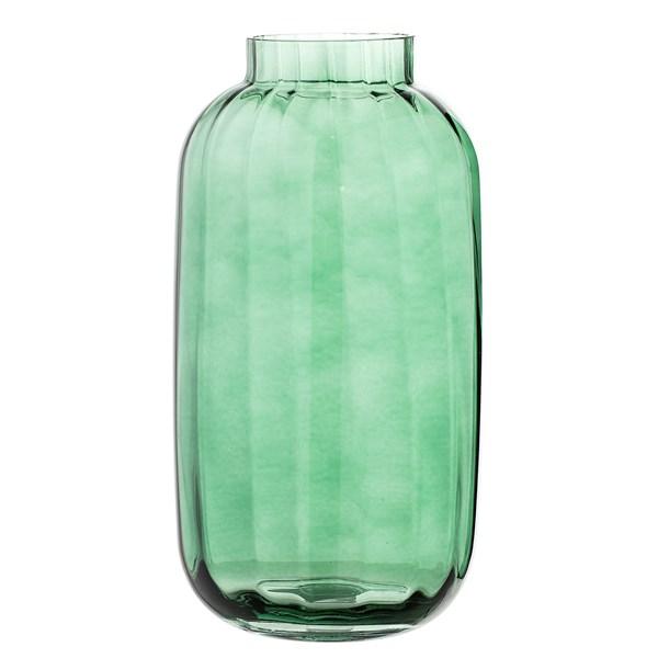 Bloomingville Vas Glas Diameter 16 cm  Höjd 32 cm Grön
