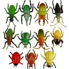 Applikation Plast Insekter 5 cm Mix 60 st