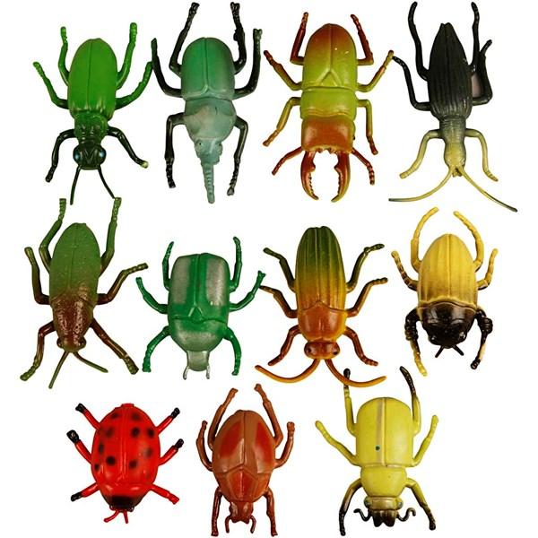 Applikation Plast Insekter 5 cm Mix 60 st - dekoration