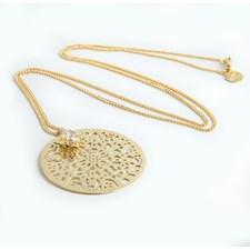 Spinn Big crystal Halsband 72 cm , gold