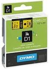 Teippi DYMO D1 12 mm musta keltaisella