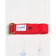 Yogabälte, ekologisk bomull, 305 cm - yogiRAJ - Röd