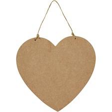 Dörrskylt Hjärta av Trä 18,5x19,5 cm MDF 1 st
