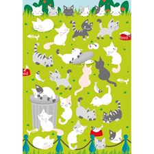 Klistremerker, Filt, Katter, 10 x 19 cm