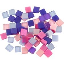 Minimosaikk, str. 5x5 mm, 25 g, lilla/pink harmoni