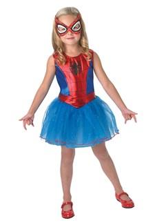 Maskeraddräkt Spider-Girl, Strl 3-4 år