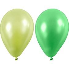 Ballonger, dia. 23 cm, 10 st., grön