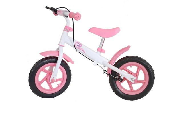 Løpesykkel med rosa bremser, EVA dekk