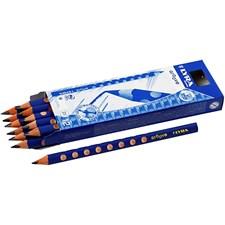 Groove Graphite blyant, mine: 4,25 mm, dia. 10 mm, hardhet B, 12stk.