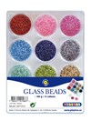Glaspärlor 12 färger