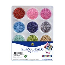 Glassperler 12farger