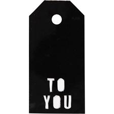 Manillamerker, str. 5x10 cm,  300 g, svart, TO YOU, 15stk.