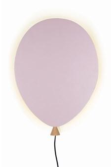 Globen Lighting Balloon Vägglampa B: 25 D: 4 H: 35 cm Rosa / Ask