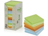 Notater POST-IT 100 % resirkulert 76x76 Rainbow (16)