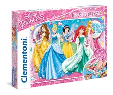 Pussel Disney Princess Jewels, 104 bitar, Clementoni