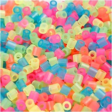 Rörpärlor 5x5 mm 6000 st Neonfärger