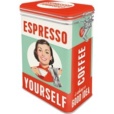 Kaffeboks Retro Espresso Yourself