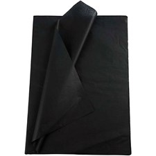 Silkespapper 50x70 cm Svart 25 Ark