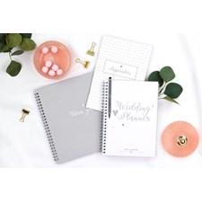 Bröllopskit med gästbok, inspirationshäfte och planeringslista Burde