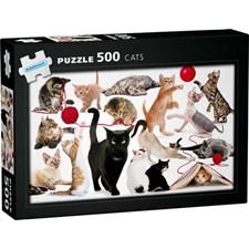 Pussel Katter 500 bitar, Egmont Kärnan