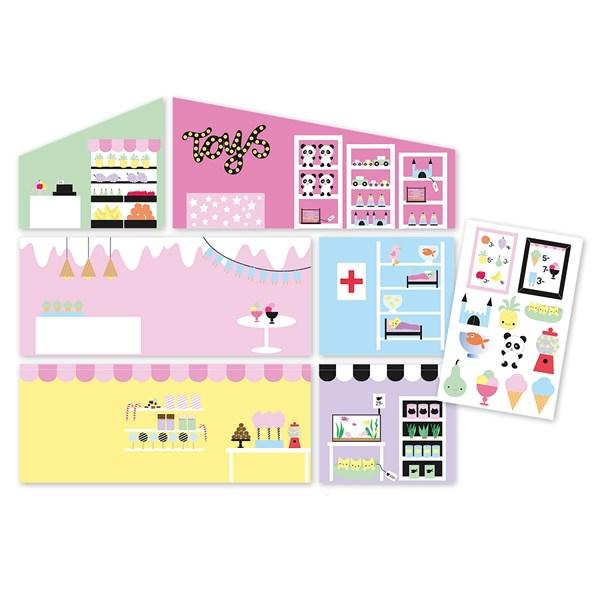 Väggset  Creative Shop  Lundby - dockskåp & tillbehör