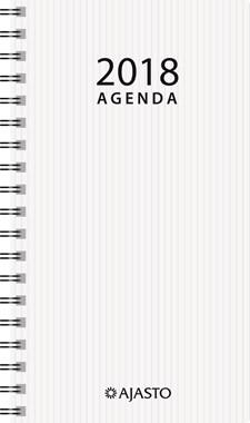 Taskukalenteri 2018, Agenda Eko 87 x 153 mm, valkoinen
