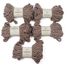 Adlibris Chunky Wool Garn 200g Beige Melange A044 5-pack