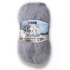 Viking of Norway Mohair 50 gr vaaleanharmaa