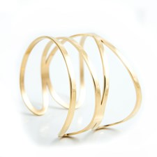 Katie Whide Armband, Gold