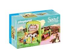 Hästbox med Abigail och Boomerang, Playmobil Spirit (9480)