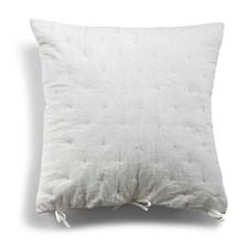 Day home Putetrekk, Quiltet, Day Velvet 100% Bomull, Med Blonder 50x50cm Hvit
