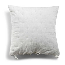 Day Home Velvet Quilted Kuddfodral Prydnadskudde 100% Bomullsammet 50x50 cm Vit