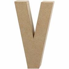 Pappbokstav, V: 20,5 cm, tjocklek 2,5 cm, 1 st.