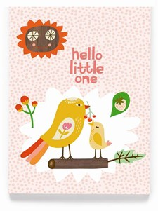 Hello Little One, vaaleanpunainen kortti