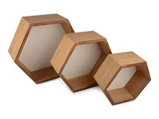 Hylla Hexagon 3-set