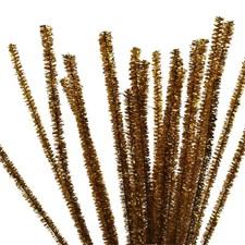 Piprensare, tjocklek 6 mm, L: 30 cm, 24 st., guld