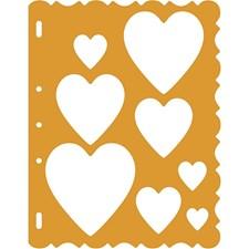Schablon Hjärta 21x28 cm 1 st