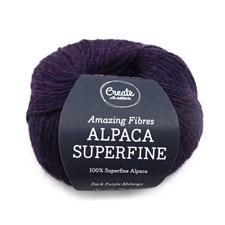 Adlibris Alpaca Superfine 50g Dark Purple Melange A225