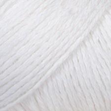 Bomull- Lin Drops design 50 g white 01
