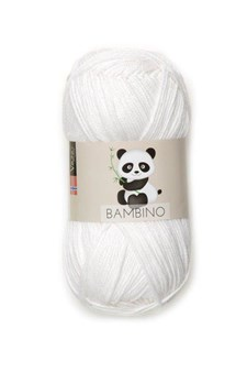 Viking of Norway Bambino Garn Bomullsmix 50g Vit 400