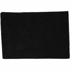 Hobbyfilt, A4 21x30 cm, tykkelse 1,5-2 mm, 10 ark, svart